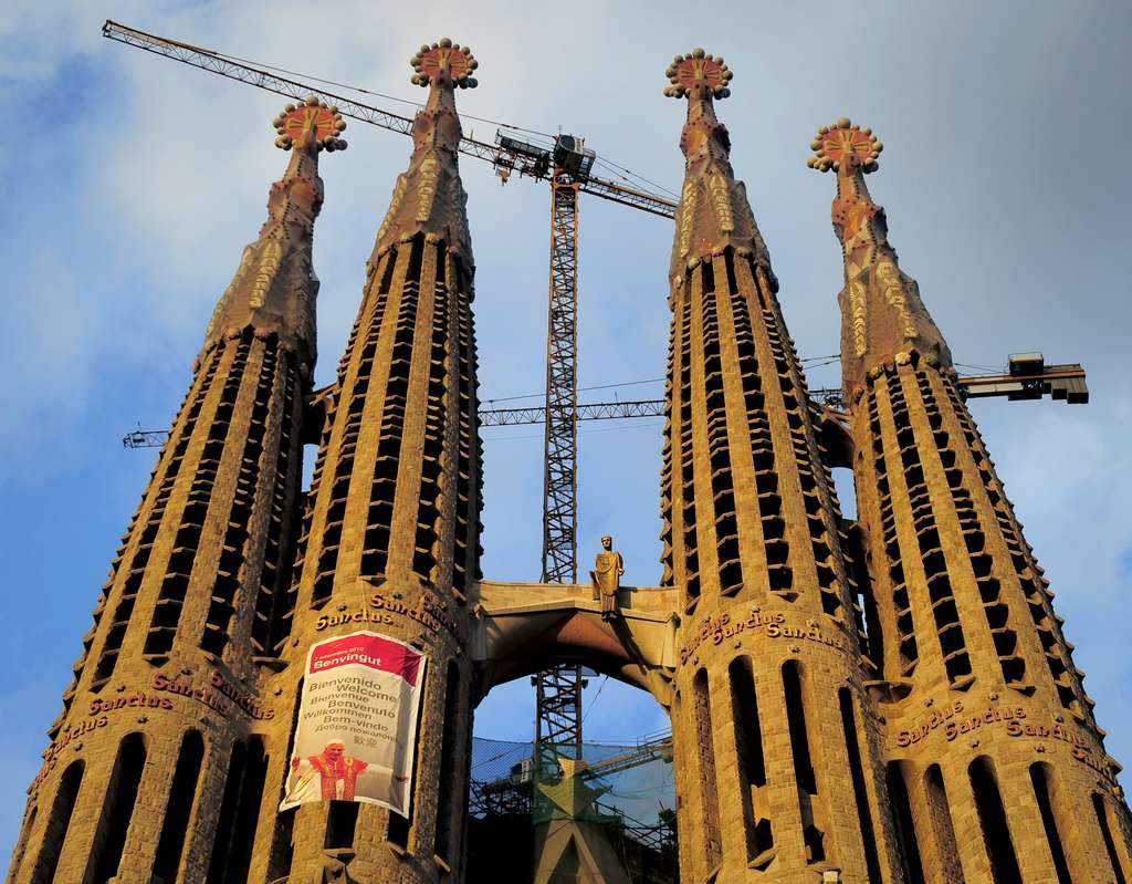 La Sagrada Familia de Gaudi à Barcelone. © Joseph Lago, AFP