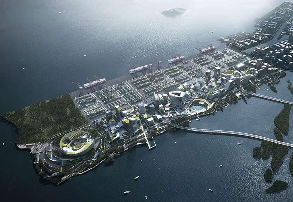 Concept de la ville Net City connectée et en cours de construction par Tencent. © Tencent