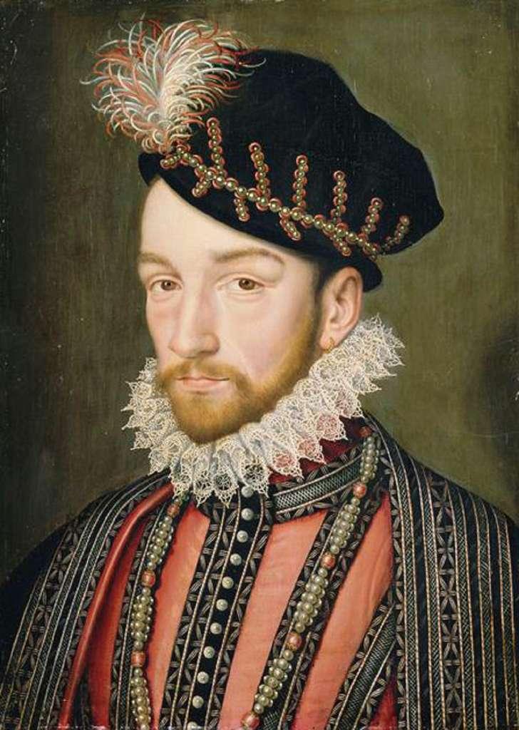 Portrait du roi Charles IX, d'après François Clouet, vers 1572. Château de Versailles. © Domaine public.