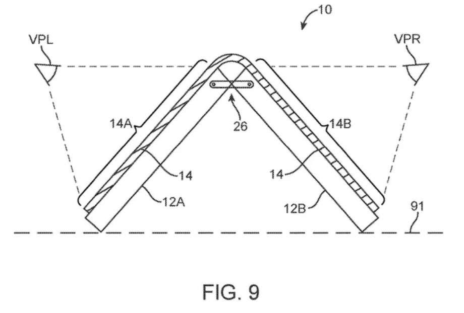 Un écran pliable ou un smartphone à clapet ? L'iPhone du futur sera une vraie rupture avec ce qu'a toujours proposé Apple © Apple, USPTO