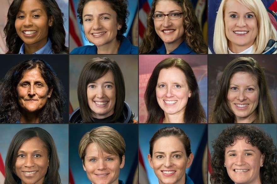 Le programme développé par la Nasa afin de renvoyer des humains sur la Lune a été baptisé Artémis, du nom de la sœur jumelle d'Apollo. Comme un clin d'œil à la féminisation de l'exploration spatiale. Ici, les douze femmes astronautes de la Nasa parmi lesquelles devrait se trouver celle qui sera la première à poser le pied sur la Lune (d'en haut à gauche à en bas à droite) : Stephanie Wilson, Jessica Meir, Kristina Koch, Kathleen Rubins, Sunita Williams, Megan McArthur, Shannon Walker, Tracy Caldwell Dyson, Jeanette Epps, Anne McClain, Nicole Mann, Serena Aunon-Chancellor © Handout, Robert Markowitz, James Blair, Nasa