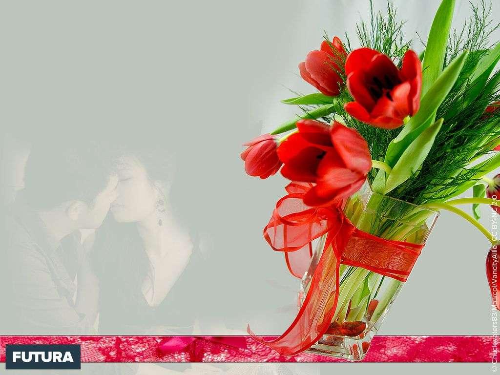 Saint-Valentin fleurs de l'amour