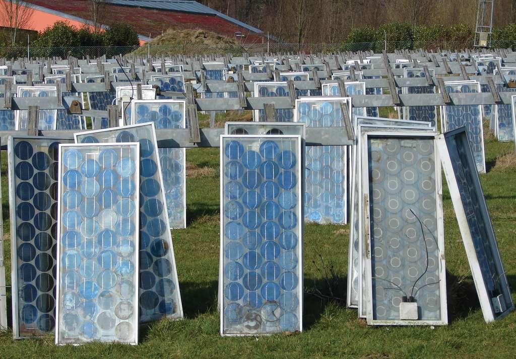 Il n'existe aucune filière de recyclage en Chine pour les panneaux solaires. © PV Cycle