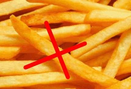 Les frites sont à consommer avec modération !