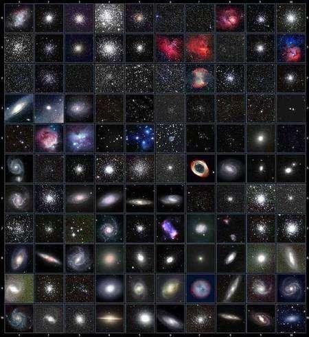 Les 110 objets célestes de son catalogue ont fait la célébrité de Charles Messier, le premier à les recenser systématiquement. Crédit obspm