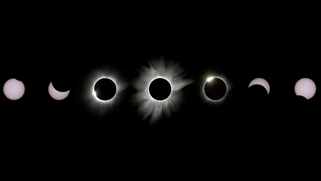 Le 9 mars, les habitants d'Indonésie ont pu voir la Lune grignoter le Soleil. © Justin Ng