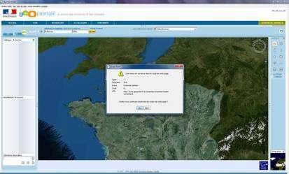 (Cliquer pour agrandir.) Un bug récurrent sur TerraExplorer © IGN; Futura