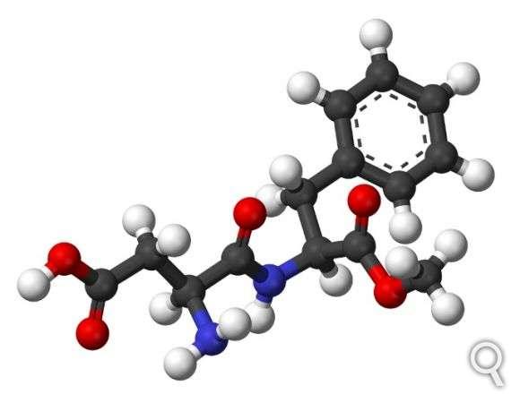 L'aspartame est un dipeptide utilisé pour donner un goût sucré.© Benjah-bmm27, Wikimedia Commons, DP