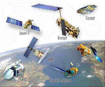 Les données satellitaires permettent d'évaluer l'élévation du niveau des océans. © Aviso