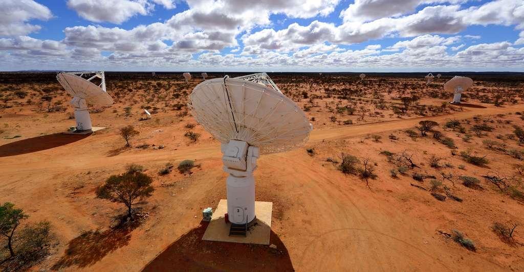 C'est grâce aux performances de l'Australian Square Kilometer Array Pathfinder (Askap) que les chercheurs ont relevé un mystérieux signal radio en provenance du centre de la Voie lactée. © Askap