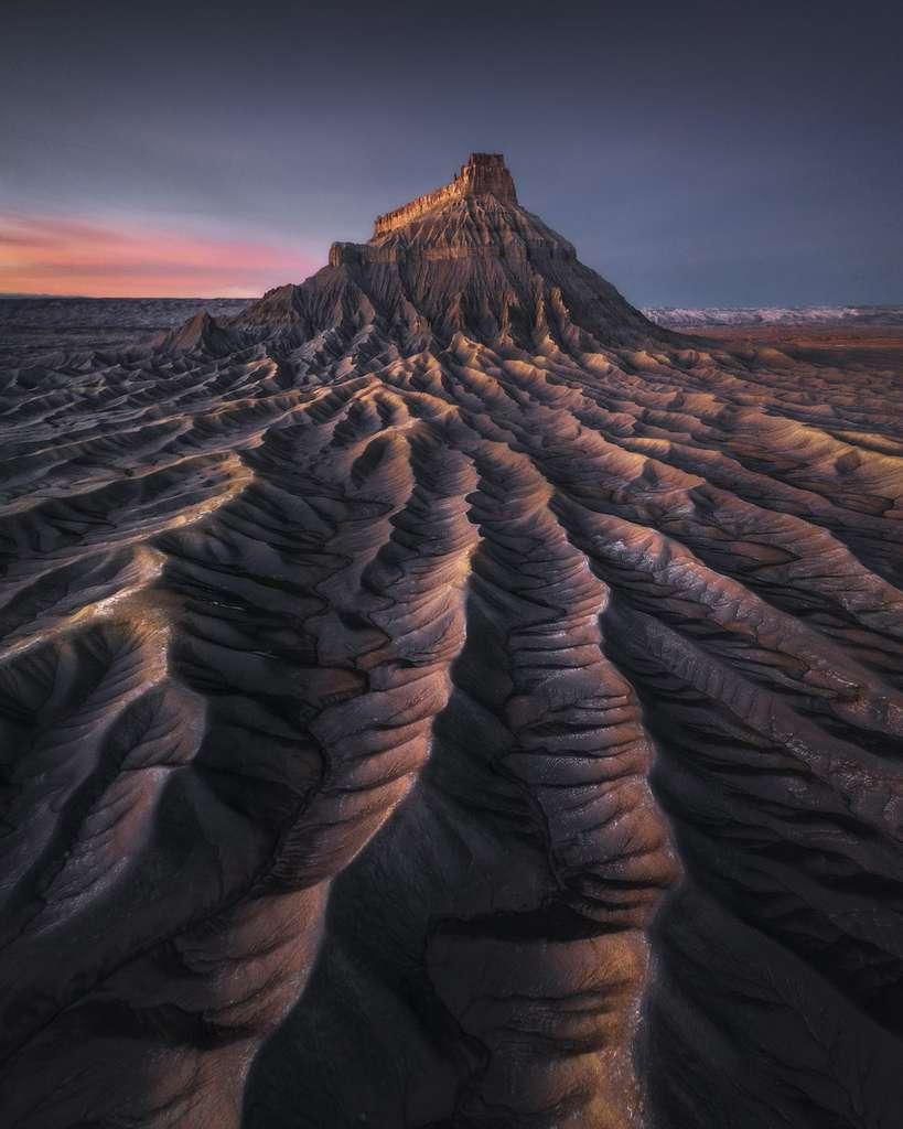Mars, par national du Capitol Reef, Utah, États-Unis