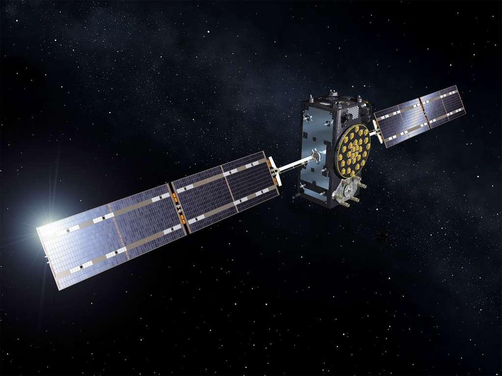 Vue d'artiste d'un satellite européen Galileo. © Esa, Pierre Carril