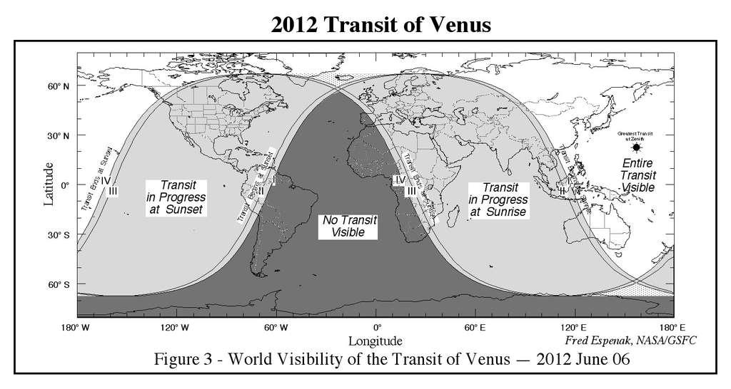 Le transit de Vénus en juin 2004 observé en projetant sur une feuille de papier l'image fournie par une lunette astronomique. Vénus est le petit point noir au bord du disque solaire. © University of Maryland Observatory