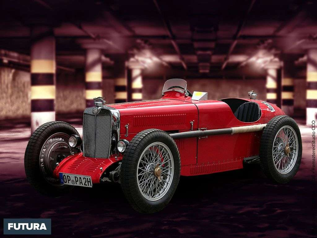 "Voiture une ""spéciale"" six cylindres MG PA, 1300 cm³ Morris Garage PA"