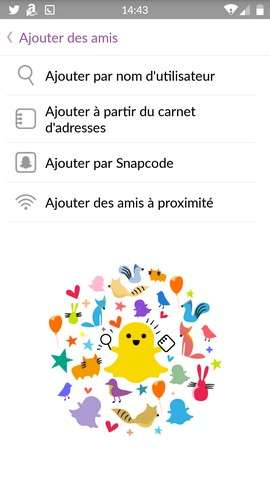 Chaque méthode d'ajout de contact Snapchat présente ses avantages. © Snapchat