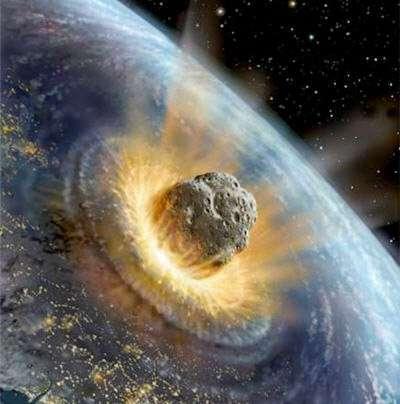 Si la fin du monde, que certains pronostiquent en décembre 2012, devait se produire, ce ne sera pas à la suite de la collision d'un astéroïde géant avec la Terre. Jusque-là, tout va bien. © DR