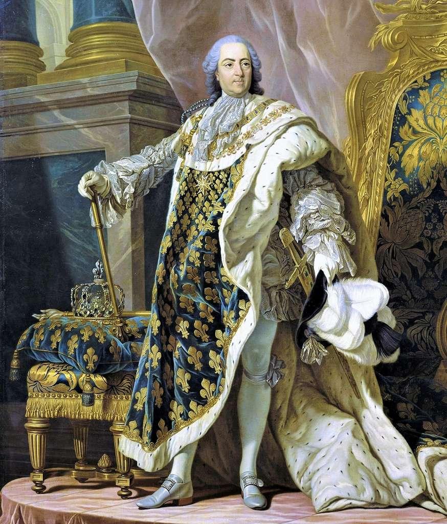 Portrait de Louis XV en habits de sacre par Martial Frédou d'après Louis-Michel Van Loo, en 1763. © RMN (Château de Versailles), Gérard Blot