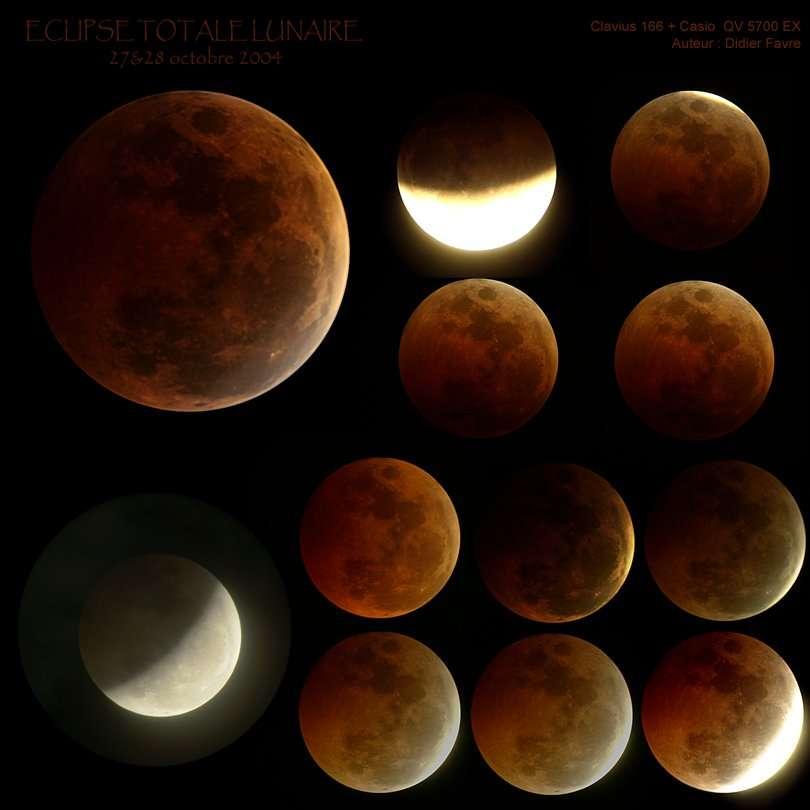 L'Eclipse Totale de Lune du 28 Octobre 2004