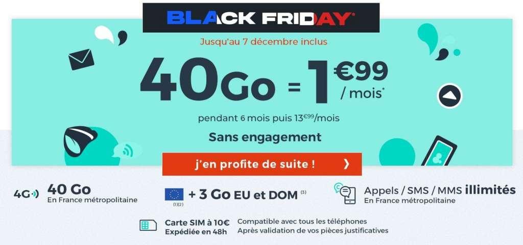 Série limitée 40 Go Black Friday © Cdiscount Mobile