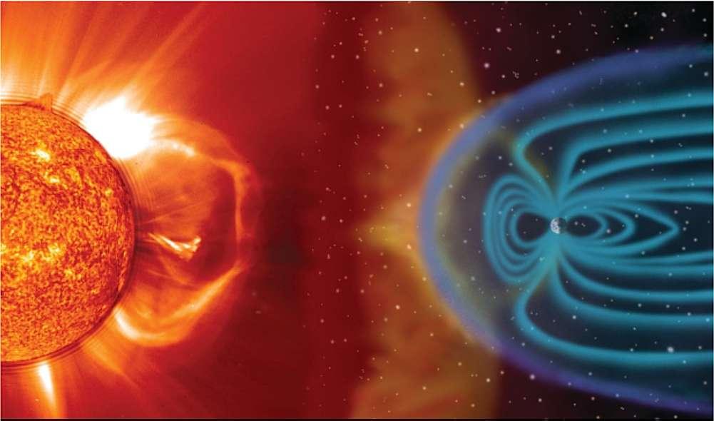 Grâce à la protection du champ magnétique et de l'atmosphère terrestres, seul 0,05 % du rayonnement cosmique parvient au niveau de la mer. © Nasa.gov