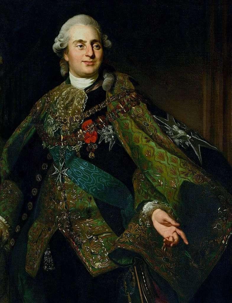 Louis XVI en habit de l'ordre du Saint-Esprit, par Alexandre Roslin en 1782. © Château royal de Varsovie, Pologne. © Wikimedia Commons, domaine public