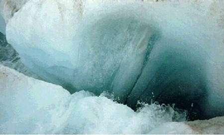 Moulin glaciaire.