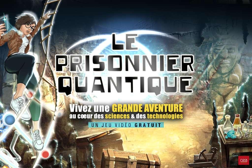 Une présentation d'artiste du Prisonnier quantique avec son héroïne, Zoé. © CEA, J. Lignier