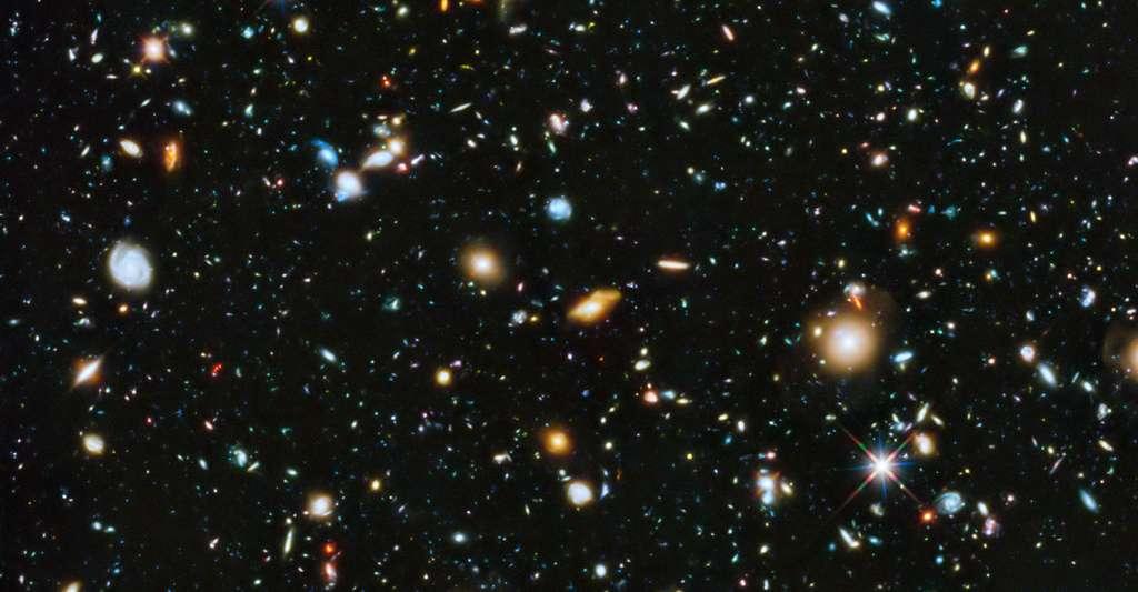 La matière des galaxies ne représenterait qu'une quantité négligeable dans l'univers, à la différence de l'énergie noire. © Hubble, Nasa