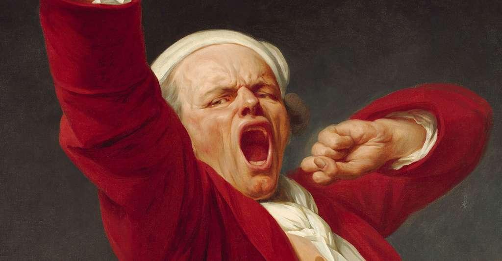 Le fait de bâiller peut procurer du plaisir. Ici, autoportrait par Joseph Ducreux (1783). © DR