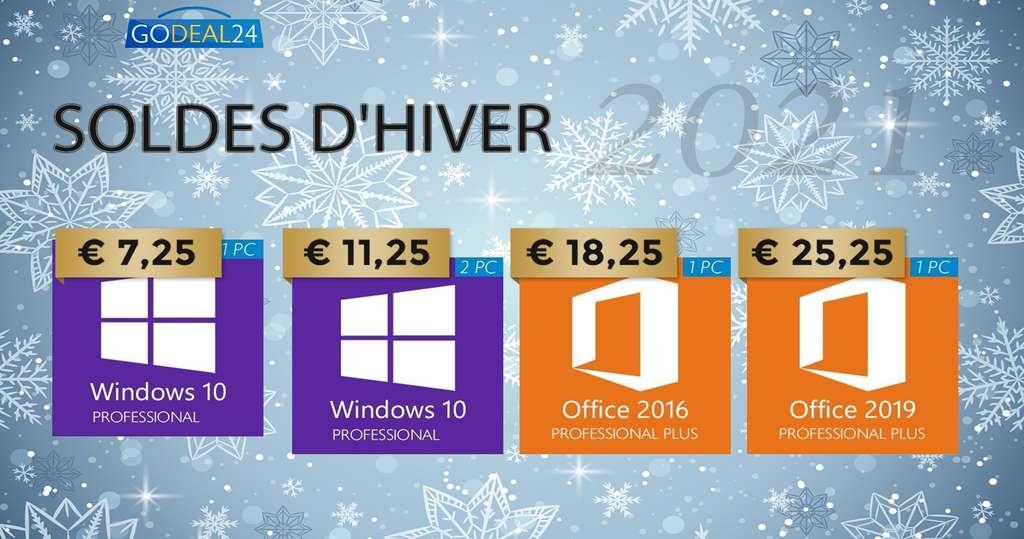 Les meilleures offres des Soldes d'Hiver pour Windows et Office