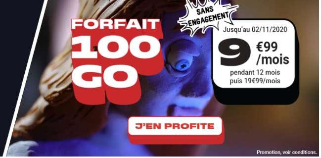 Forfait 100 Go à prix cassé © NRJ Mobile