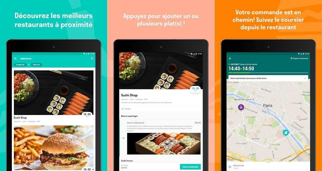 Deliveroo se distingue en proposant une sélection de restaurants de qualité, qui ne se retrouvent habituellement pas sur des plateformes de livraison de plats cuisinés. © Deliveroo