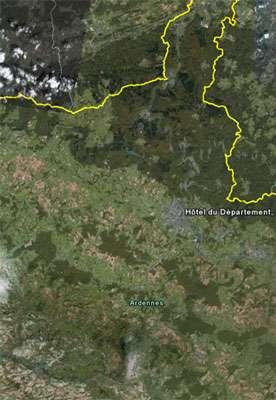 Régions géologiques bien visibles. Crédits DR.