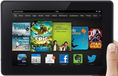 La Kindle Fire HD adopte un design un peu plus fin et léger que le modèle existant. Elle reçoit la mise à jour Fire OS 3.0. © Amazon