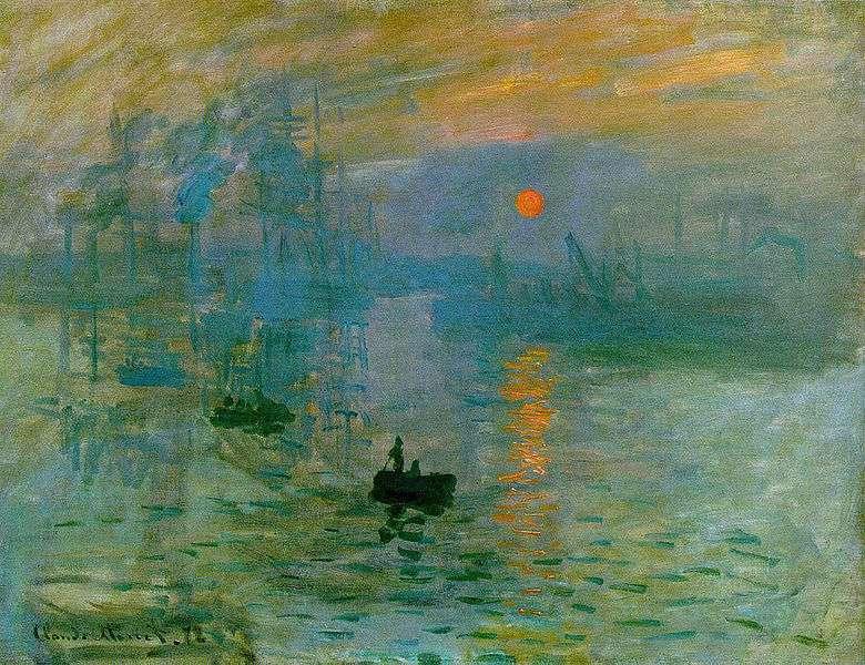 Impression soleil levant, le célèbre tableau de Monet qui est à l'origine du mouvement impressionniste. Ce courant artistique a mis du temps à être accepté par ses contemporains. © Claude Monet, Wikipédia, DP