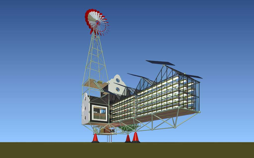 La ferme miniature Oogst 1, une habitation autonome