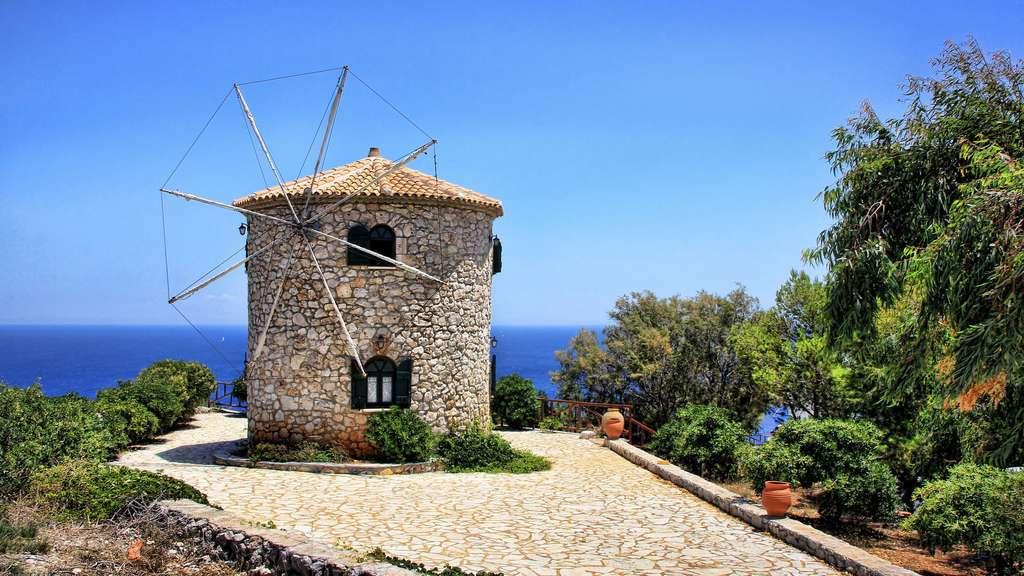 Le moulin en pierre de Zakynthos, Grèce