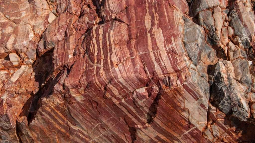 Une vue du gisement de roches australiennes dite de l'Apex chert dans la région de Pilbara. © Graeme Churchard, Flickr, CC-BY 2.0
