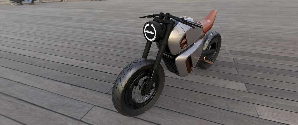 La Nawa Racer utilise un moteur électrique à jante, ce qui permet d'obtenir ce design spectaculaire sans moyeu central. © Nawa Technologies