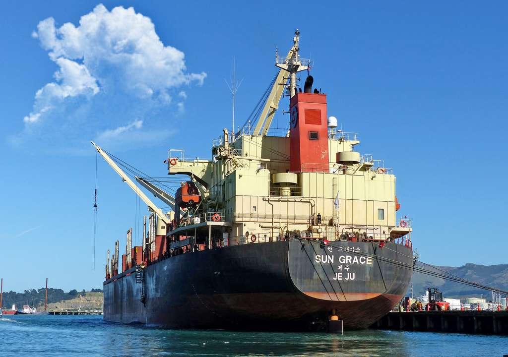 Plus de 50 vraquiers ont sombré en mer entre 2008 et 2017. Un vraquier est un navire navire transportant des marchandises solides en vrac. © Bernard Spragg, Flickr