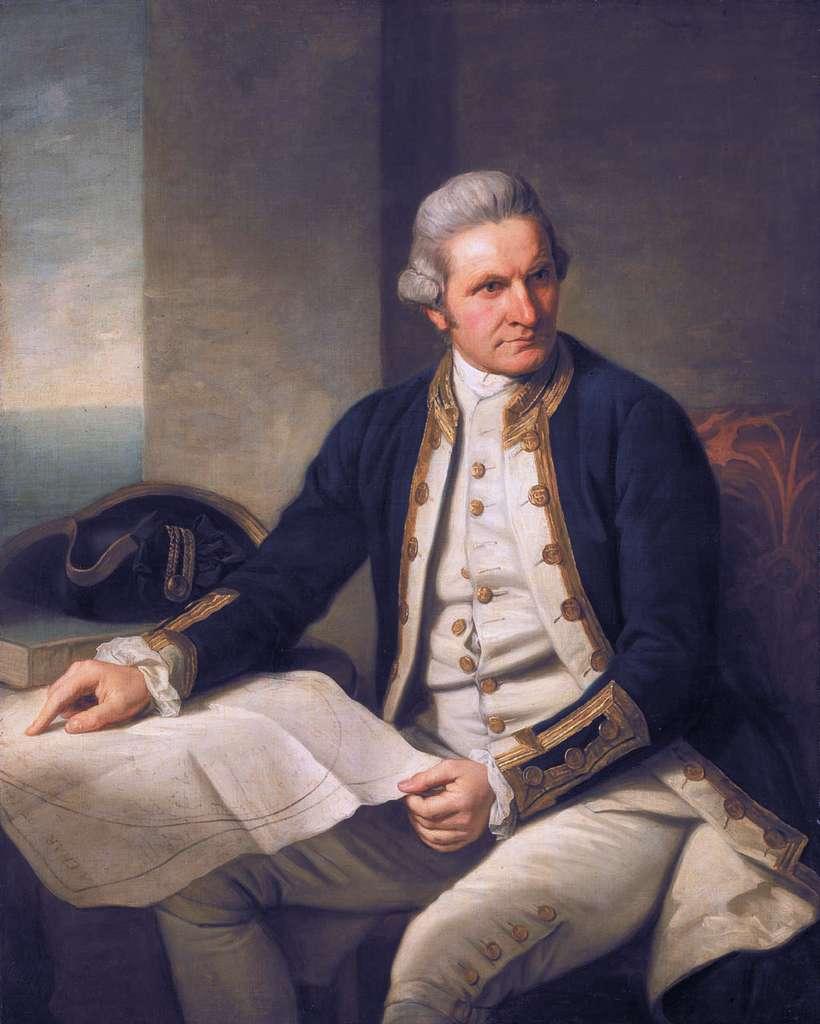 Portrait du capitaine James Cook. © Domaine public