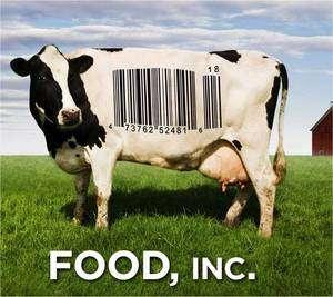 L'affiche de Food, Inc., réalisé par Robert Kenner, le documentaire qui coupe l'appétit.