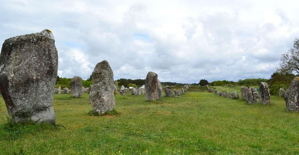 Les menhirs peuvent être disposés en alignements de plusieurs kilomètres de long. © juliacasado1, Pixabay, CC0 Public Domain