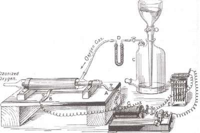 Figure 4 : Générateur d'ozone de Siemens - 1858