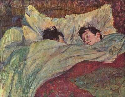 Au coucher, les acouphènes peuvent empêcher l'endormissement. Tableau de Toulouse-Lautrec (Musée d'Orsay). © Domaine public