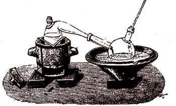 Préparation du chlorure d'antimoine