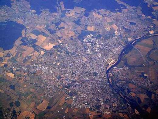 Orléans vue du ciel