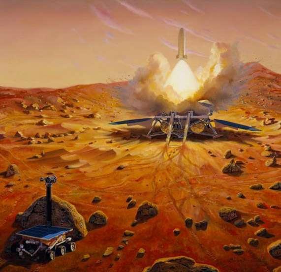 S'il ne fait guère de doute qu'une mission internationale de retour d'échantillons martiens se fera un jour, l'absence de la Nasa dans ExoMars 2018 la reporte à des horizons lointains, fin 2020 au mieux. © Nasa