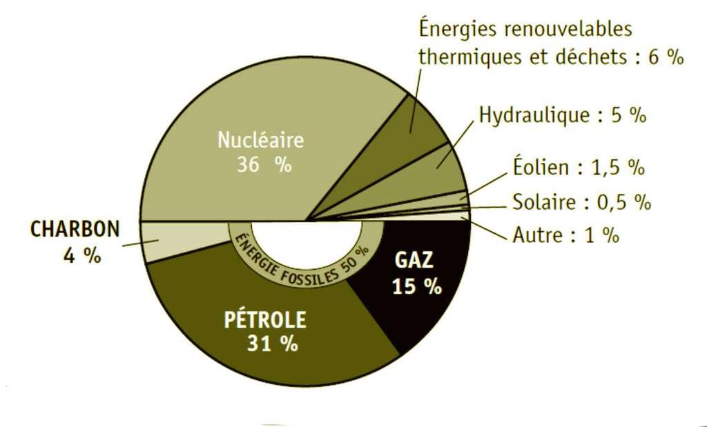 Sources d'énergie de la France pour l'année 2012. © EDP Sciences