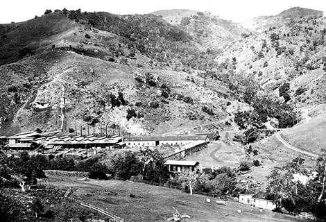 New Almaden (États-Unis) en 1863. © DR